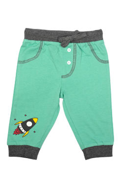 Mee Mee Kids White & Mint Green Track Pants - Pack Of 2