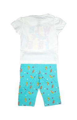 Mee Mee Kids Short Sleeve Feather Printed Night Suit