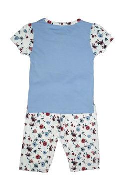 Mee Mee Kids Short Sleeve Floral Printed Bunny Night Suit