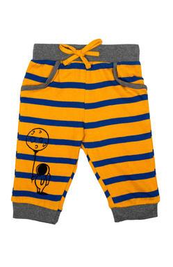 Mee Mee Kids Orange & Navy Stripes Track Pants - Pack Of 2