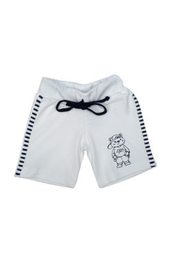 Mee Mee Baby Navy Blue & White Shorts - Pack Of 3