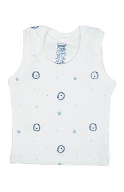 Mee Mee Kids Light Blue, White Printed Vests – Pack Of 3