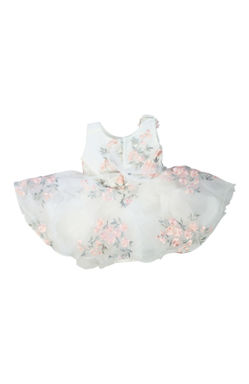 Mee Mee Baby Frilly Party Frock – White