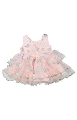 Mee Mee Baby Frilly Party Frock – Pink & Grey