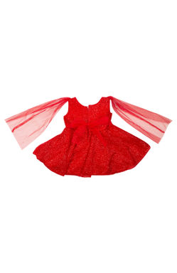 Mee Mee Baby Frilly Party Frock –Red