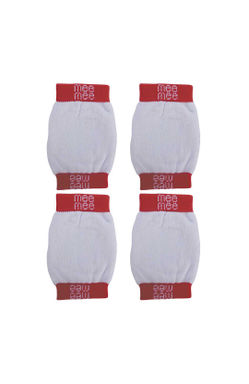 Mee Mee Soft Baby Knee/Elbow Pads (Red, Pack of 2)