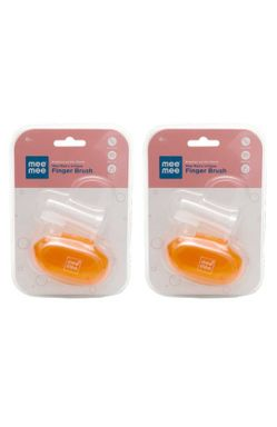 Mee Mee Unique Finger Brush (Single Pack, Orange)