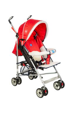 Mee Mee Lightweight Baby Stroller with Reclining Seat (Red)