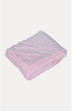 Pink Double Layered Blanket with Embossed Printing