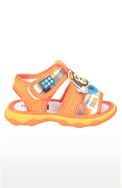 Mee Mee First Walk Baby Sandel with Chu Chu Sound (Orange)