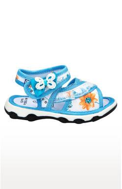 Mee Mee First Walk Baby Sandel with Chu Chu Sound (Light Blue)