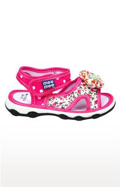 Mee Mee First Walk Baby Sandel with Chu Chu Sound (Dark Pink)