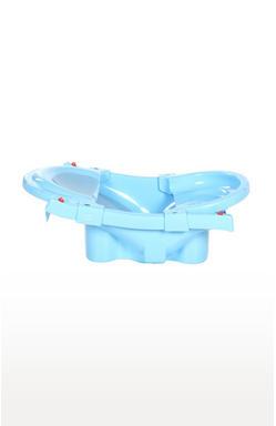 Blue Foldable and Spacious Baby Bath Tub