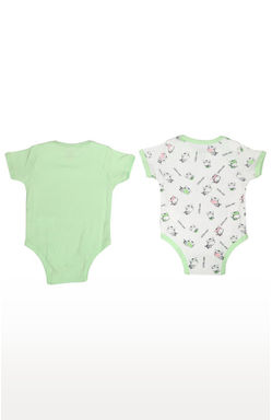 MEE MEE KIDS WHITE PRINTED BODYSUIT PACK OF 2