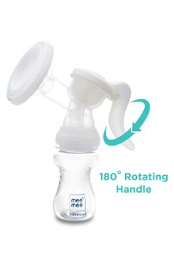 Mee Mee Advanced Manual Breast Pump (with 180* Rotating handle)