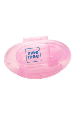 Mee Mee Unique Finger Brush (Pink, Pack of 2)