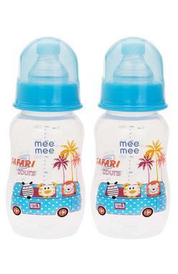 Mee Mee Eazy Flo™ Premium Baby Feeding Bottle (Blue, Pack Of 2)