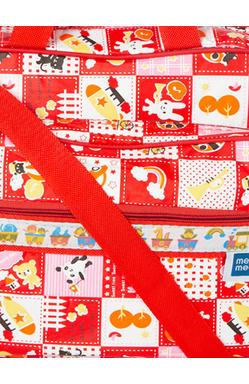 MeeMee Unisex Pink Printed Messenger Bag (Red)