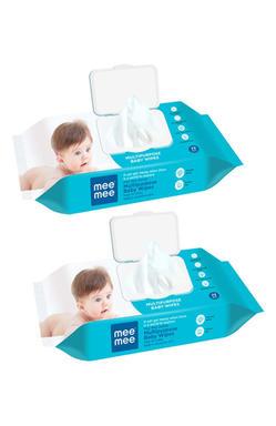 Mee Mee Gentle Multipurpose Baby Wipes, 72 Pieces (Pack of 2)