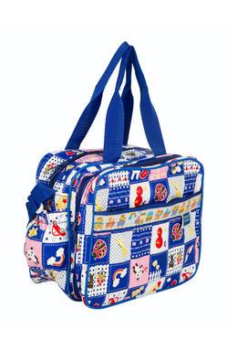 MeeMee Unisex Printed Messenger Bag (Dark Blue)