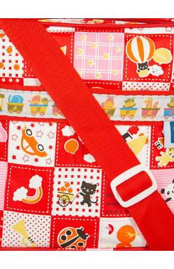 MeeMee Unisex Sea Green Printed Messenger Bag (Red)