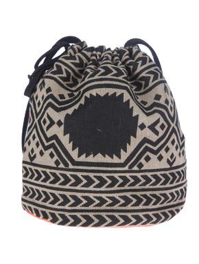 Orange Ethnic Print Bucket Bag