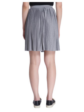Light Grey Pleated Skirt