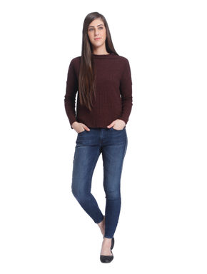 Brown High Neck Pullover