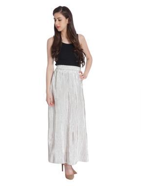 Metallic Maxi Skirt