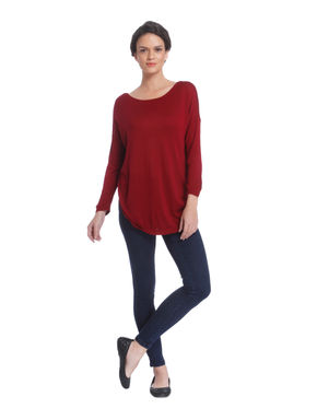 Red Criss Cross Detail Pullover