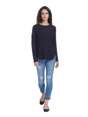 Dark Blue Loose Fit Pullover