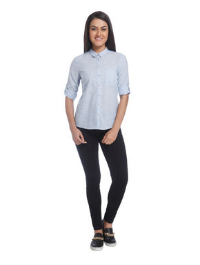 Pinstripe Casual Shirt