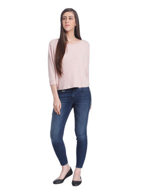 Pink Ribbed Pullover