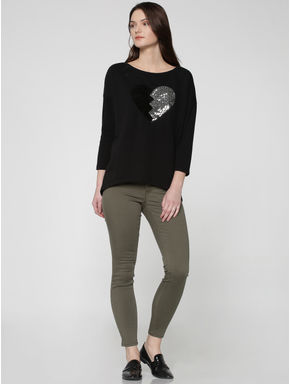 Grey Low Waist Skinny Fit Pants