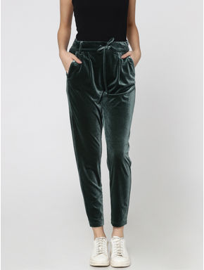 Green Mid-Rise Comfort Fit Pants