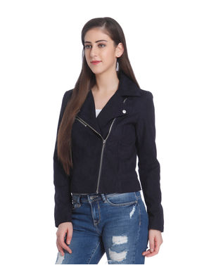 Dark Blue Cropped Jacket