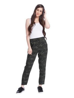 Camo Print Drawstring Pants