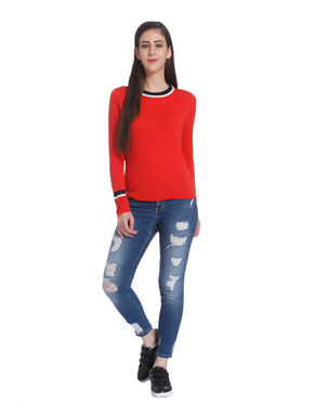 Bright Red Pullover