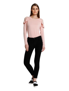 Black Regular Waist Skinny Fit Ankle Length Jeans