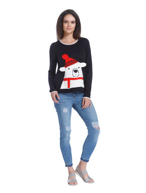 Printed Christmas Pullover
