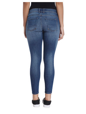 Solid Ankle Length Denim Jeans