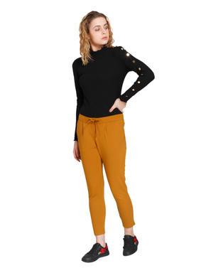 Mustard High Waist Slim Pants