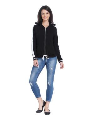Black & White Hooded Jacket