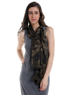 Olive Green Camo Scarf