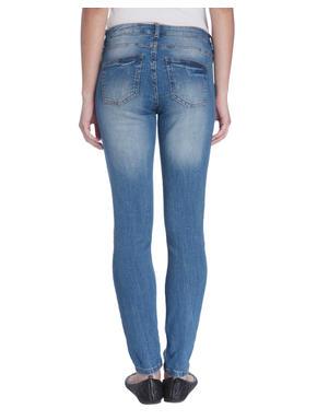 Low Waist Skinny Fit Light Blue Jeans