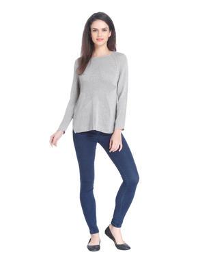 Grey Star Print Pullover