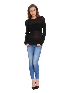 Black Glitter Pullover