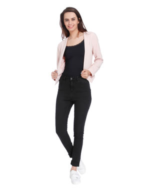 Light Pink Front Open Short Blazer