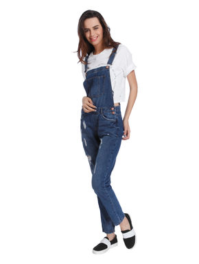 Blue Distressed Dungaree