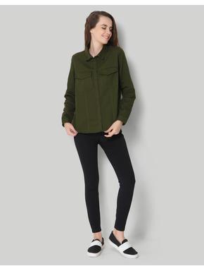 Solid Green Full Sleeve Shirt